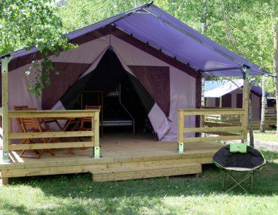 CAMPING DES GORGES DE L'AVEYRON-Les hébergements insolites du camping CAMPING DES GORGES DE L'AVEYRON-SAINT ANTONIN NOBLE VAL