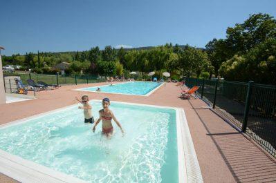 L'OASIS DU VERDON-La piscine du camping L'OASIS DU VERDON-AUPS
