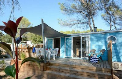 LA PIERRE VERTE-Les mobil-homes du camping LA PIERRE VERTE-FREJUS