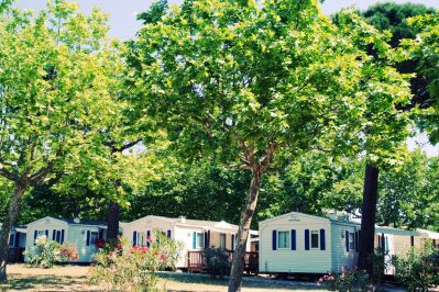 LES MURES-Les mobil-homes du camping LES MURES-GRIMAUD