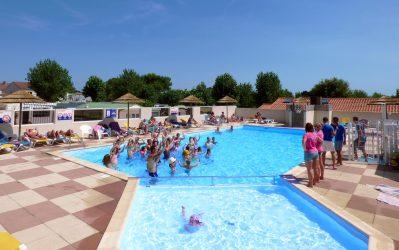 LE BRANDAIS-La piscine du camping LE BRANDAIS-BREM SUR MER