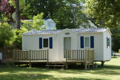 LES ORMEAUX-Les mobil-homes du camping LES ORMEAUX-SAINT PALAIS SUR MER
