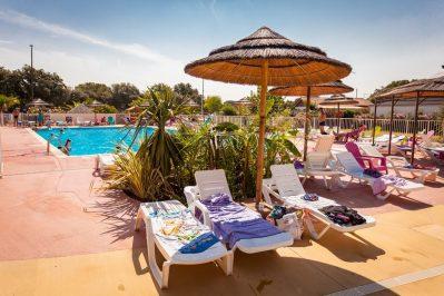 DOMAINE DE GAJAN-La piscine du camping DOMAINE DE GAJAN-BOISSERON