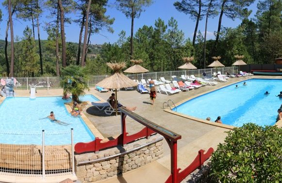 Marvelous The Water Park Seen From The Sky; 1 Campsite BOIS SIMONET, Ardèche ...