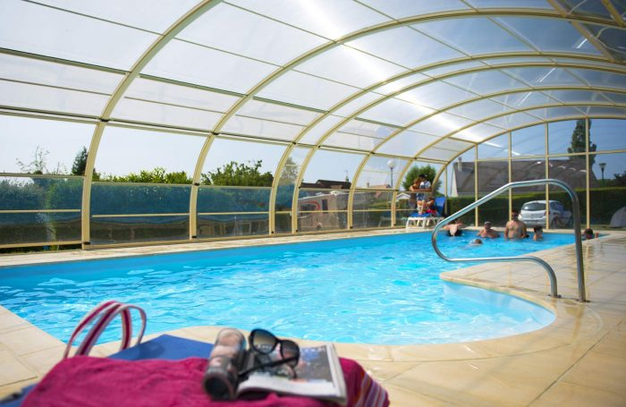 The Covered Pool Of The Campsite LES HARAS