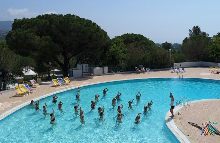 Swimming Pool Of The Campsite PARC DE BORMES ...