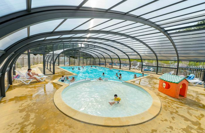 The Covered And Heated Pool Of The Campsite Of The Campsite LE KERGARIOU