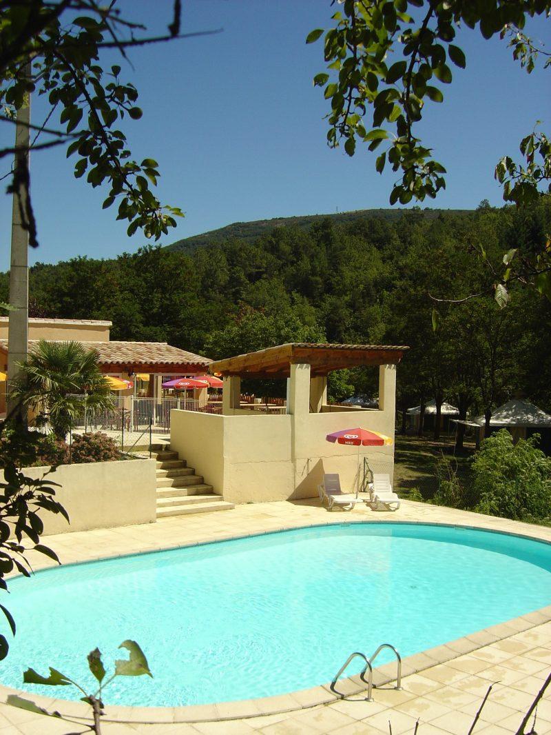LE CHAMBOURLAS-Le camping LE CHAMBOURLAS, das Departement Ardèche-SAINT VINCENT DE DURFORT