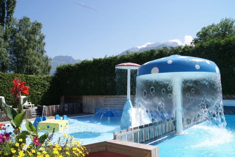 LES FONTAINES-Jeux aquatiques au camping LES FONTAINES, la Haute-Savoie-LATHUILE