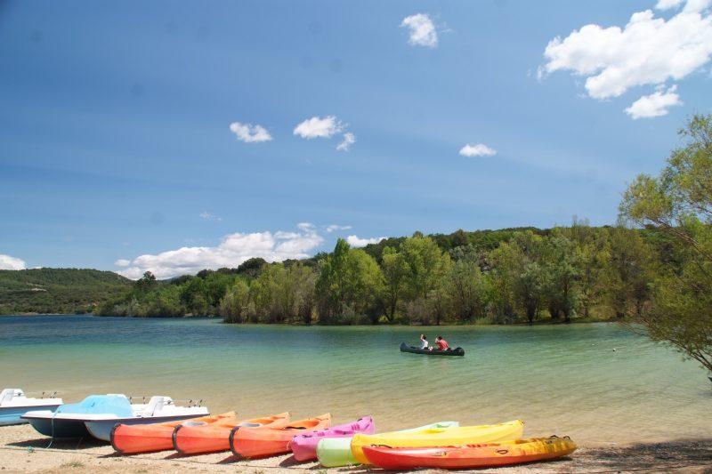 LA FARIGOULETTE-Accès direct à la plage pour le camping LA FARIGOULETTE-SAINT LAURENT DU VERDON