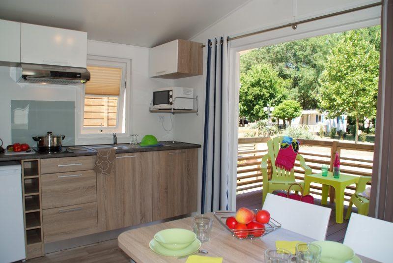 L'ARGENTIERE-Les mobil-homes du camping L'ARGENTIERE-COGOLIN