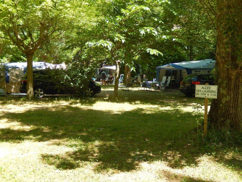 LE PRADAL-Les emplacements du camping LE PRADAL-ANDUZE