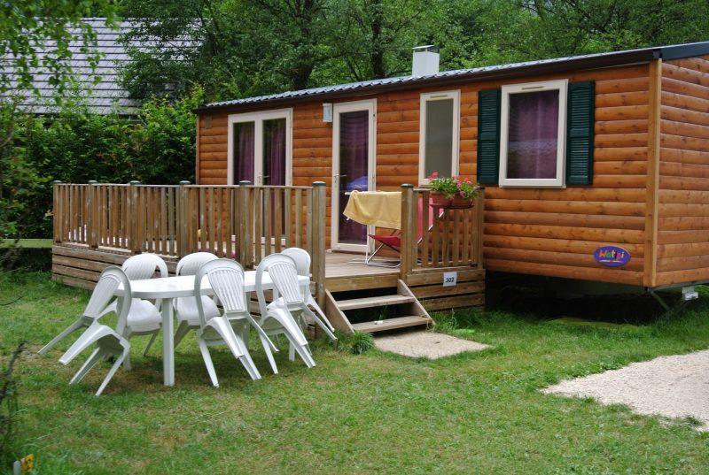 LE COLPORTEUR-Les mobil-homes du camping LE COLPORTEUR-BOURG D OISANS