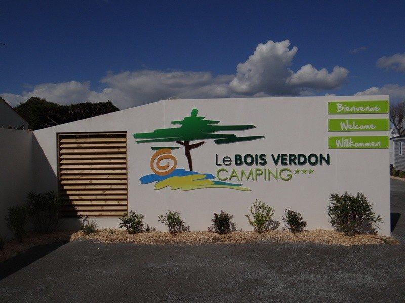LE BOIS VERDON-L'entrée du camping LE BOIS VERDON-SAINT JEAN DE MONTS
