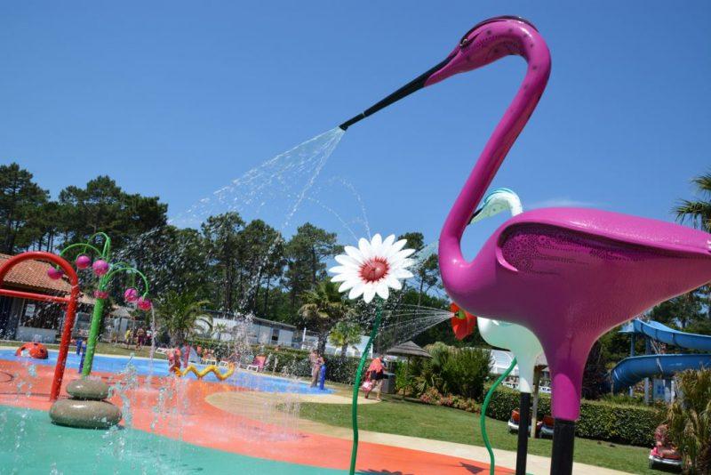 LES VIVIERS-Le parc aquatique du camping LES VIVIERS-LEGE CAP FERRET