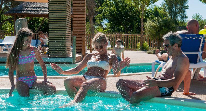 MEDITERRANEE PLAGE-La piscine du camping MEDITERRANEE PLAGE-VIAS